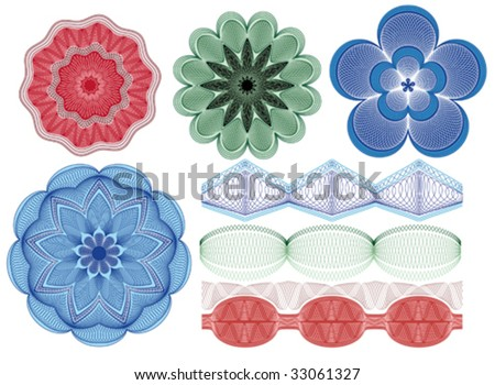 Rosette and borders for diplomas and certificates