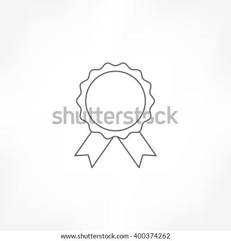 rosette icon , badge icon - stock vector