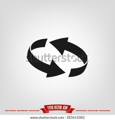 Rotation arrows icon vector illustration eps10. - stock vector