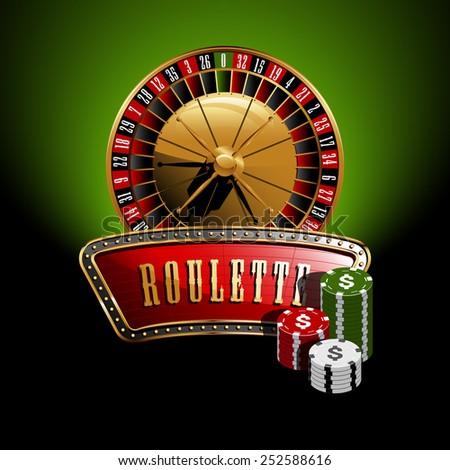 Roulette banner - stock vector