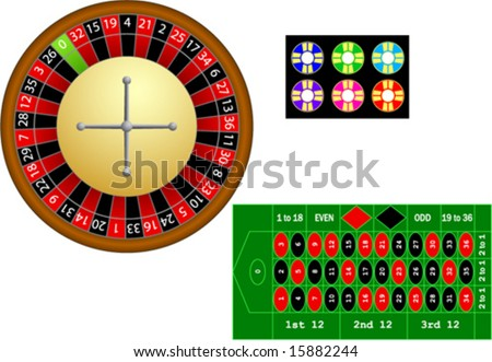 roulette elements - stock vector