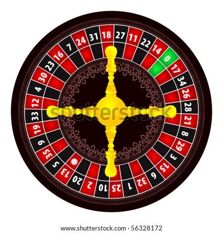Roulette illustration on white background - stock vector