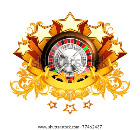 Roulette insignia, 10eps - stock vector