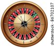 Roulette Isolated on White Background. Vector EPS8. - stock vector