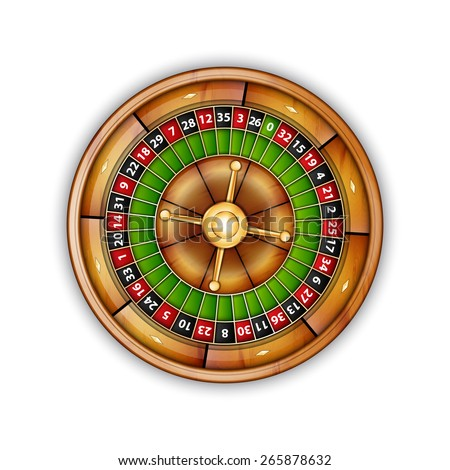 Roulette isolated on white. EPS10 vector