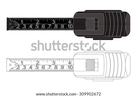 Roulette measure. Vector - stock vector