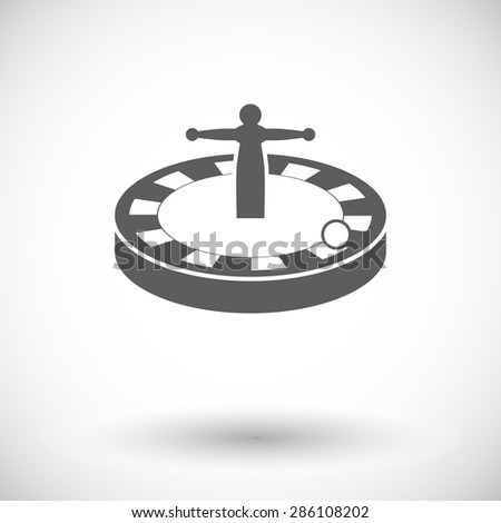 Roulette. Single flat icon on white background. Vector illustration. - stock vector