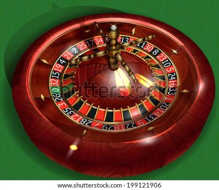 Roulette. Vector  illustration. - stock vector