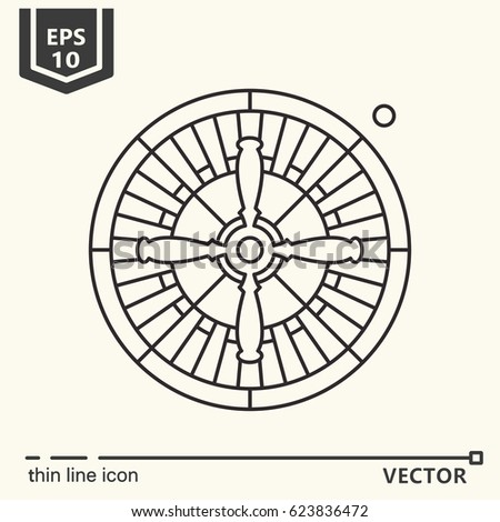 roulette. Vector single isolated icon. EPS 10. Isolated object.