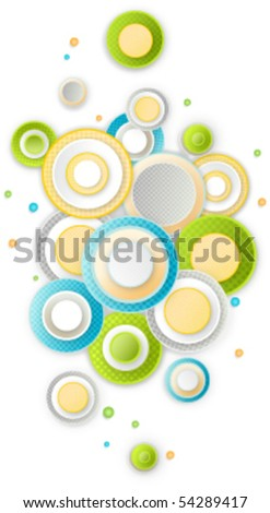 round abstract background