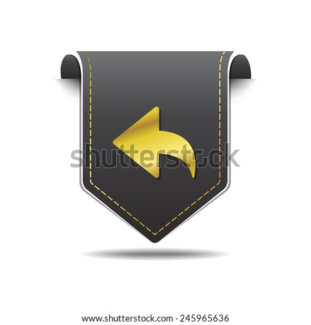 Round Arrow golden Vector Icon Design