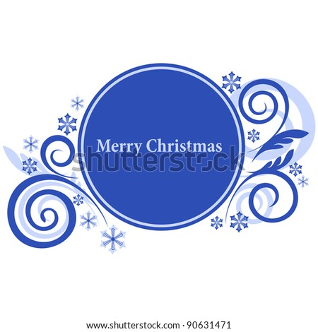 Round banner with winter element and free space for Your text - stock vector