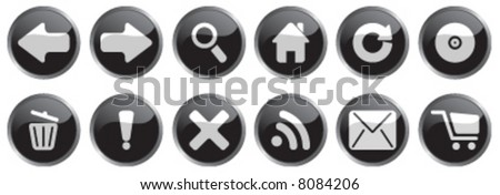 Round Black Internet Icons