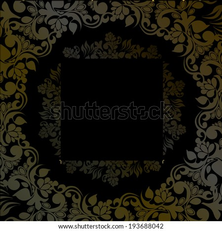 Round brown frame on a vintage background. Vector  - stock vector