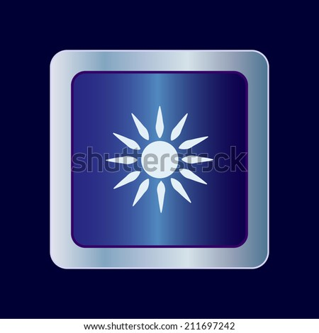 Round button. Vector icon Flat icons.  - stock vector
