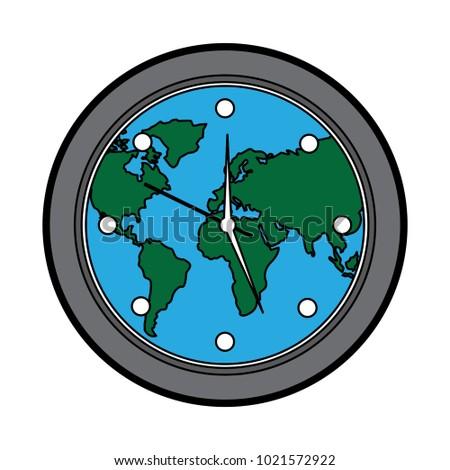 Round clock on world map stock vector 2018 1021572922 shutterstock round clock on world map gumiabroncs Images