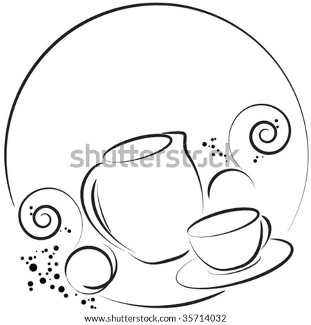 round coffee menu - stock vector