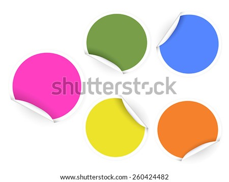 round color stickers - stock vector