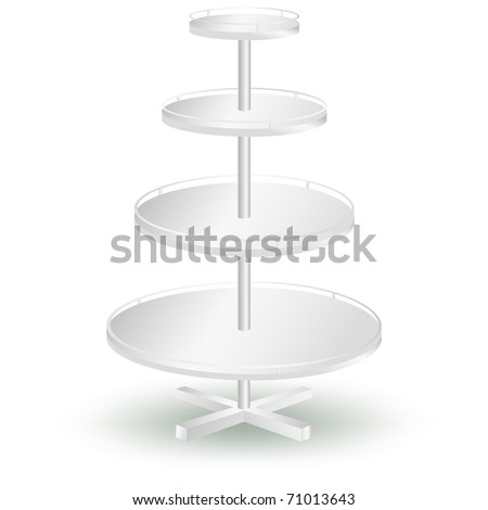 Round display icon isolated on white vector - stock vector