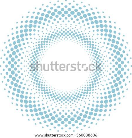 Round Dots . Round Icon . Halftone Round Dots . Round Logo . Vector Round Circles . - stock vector