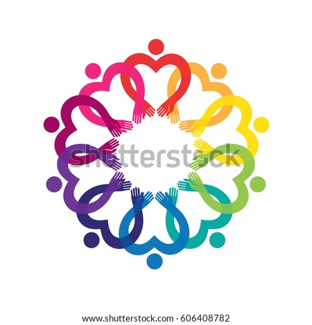 signsymbol unity friendship alliance stock vector 75864655
