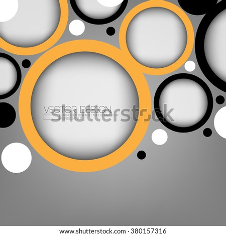round geometric elements material background design - stock vector