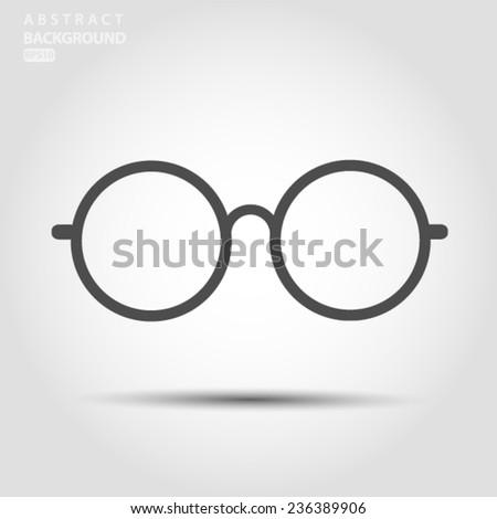Round Glasses Icon Symbol Set Vector EPS 10 illustration. - stock vector
