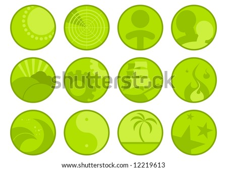 round logo - stock vector