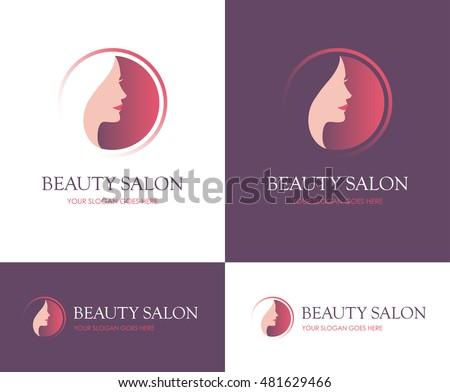 Beauty logo moon design template woman stock vector for Skins beauty salon