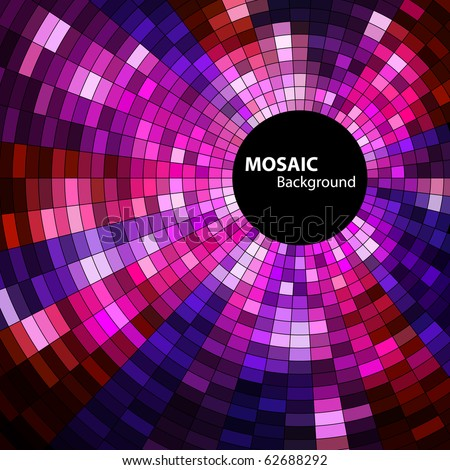 round mosaic banner - stock vector