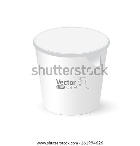 Round packaging - stock vector