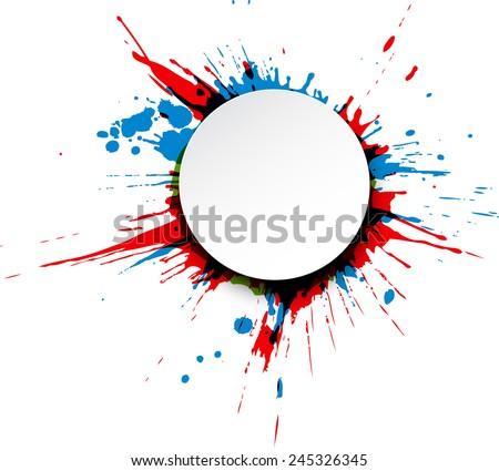 round paper note over colorful ink stock vector 245326345 shutterstock rh shutterstock com splash vector free splash vector illustration free
