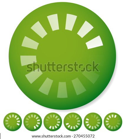 Round preloader, buffer shape, circular progress indicator - stock vector