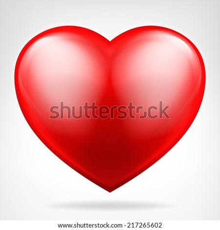 round red heart icon isolated vector on white illustration - stock vector