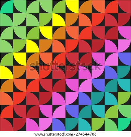 Round segment formed varicolored pattern - stock vector