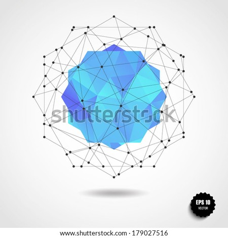 Round shape made of triangle. Triangle pattern background, triangle background, vector illustration with plenty space for your text - stock vector