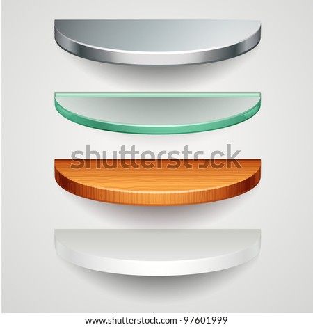 round shelves - stock vector