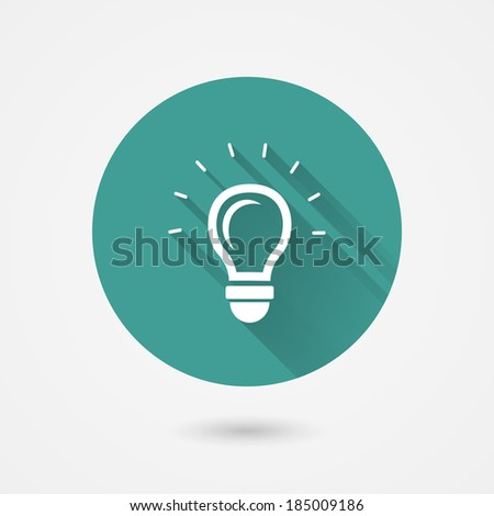 Round shining light bulb vector icon conceptual of ideas  inspiration  innovation and invention - stock vector