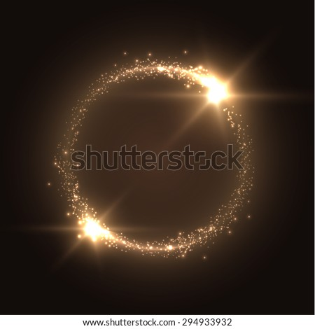 Round shiny frame background with light bursts. Technology background. Vector eps10. - stock vector