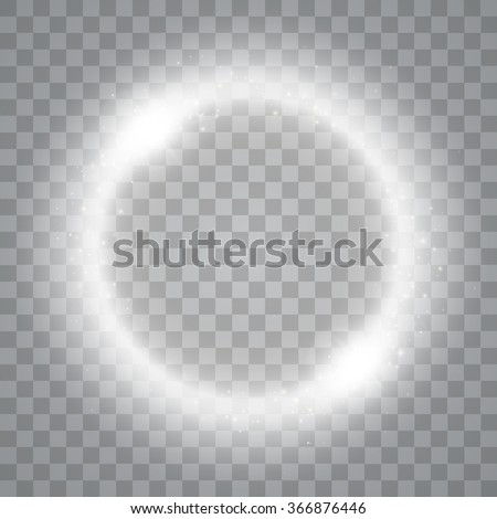 Round shiny frame background with lights. Abstract luxury light ring. Vector illustration - stock vector