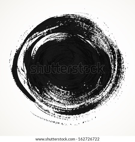 Round smear thick bristle paint brush - stock vector