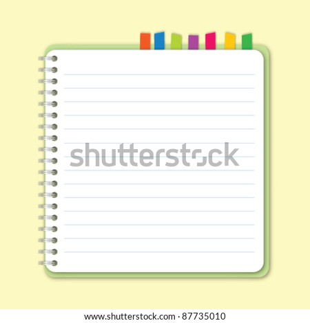 Round square notebook vector - stock vector