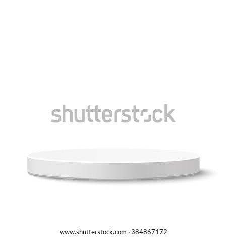 Round stage podium isolated on white background. Vector illustration. - stock vector