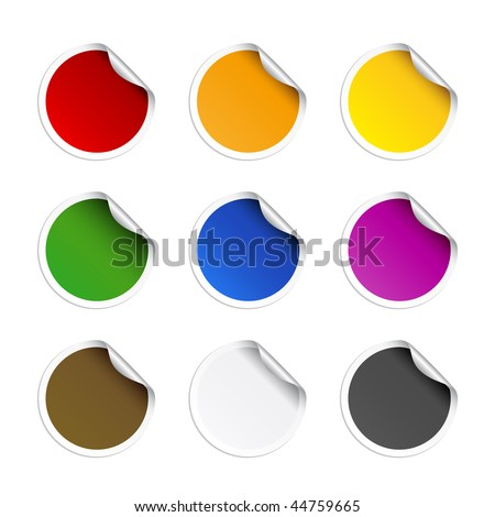 Round stickers - stock vector