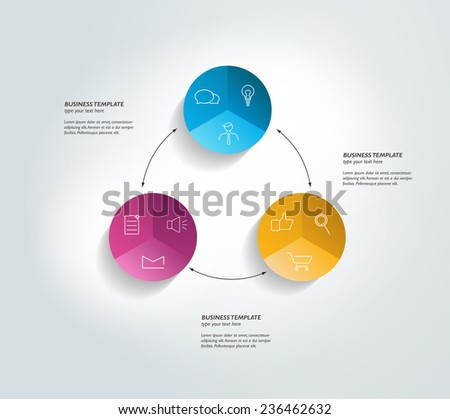 Round template. Infographics diagram.  - stock vector
