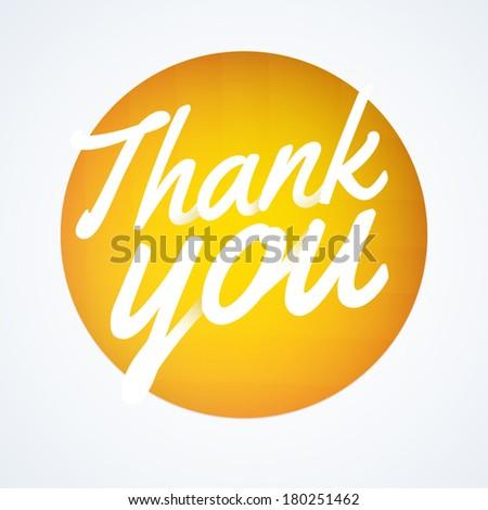 Round thank you speech bubble - stock vector