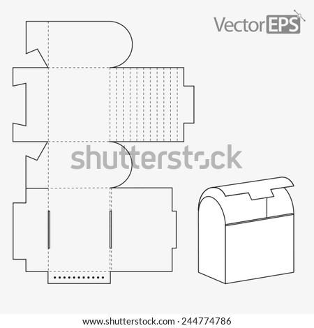 Round top box - stock vector
