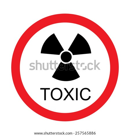 Round toxic sign vector isolated, toxic symbol, radiation, chemical  - stock vector