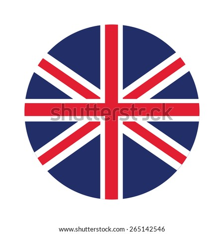 Round united kingdom flag vector icon isolated, united kingdom flag button - stock vector