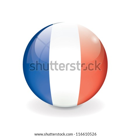 Round vector crystal ball - flag of France - Europe